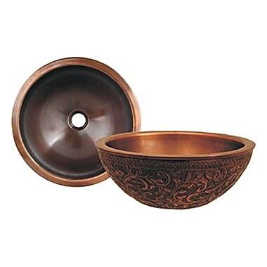Whitehaus Collection Copperhaus Circular Vessel Bathroom Sink; Smooth Copper