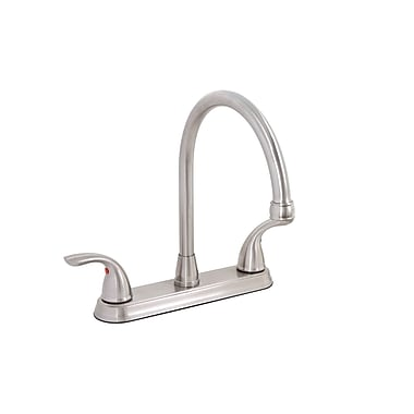 Premier Faucet Bayview Double Handle Kitchen Faucet; Brushed Nickel (PVD)