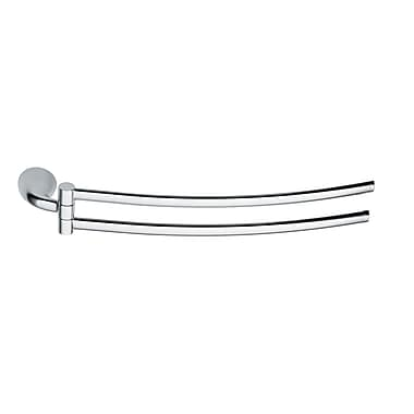 Artos Lulay Hinged Double Wall Mounted Towel Bar; Brushed Nickel