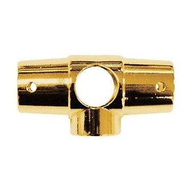 Elements of Design 5 Hole Shower Ring Connector; Polished Brass