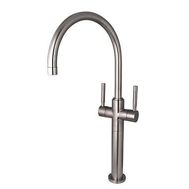 Elements of Design South Beach Double Handle Vessel Sink Faucet without Pop-Up; Satin Nickel
