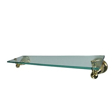 Elements of Design Restoration Chicago Wall Shelf; Polished Brass