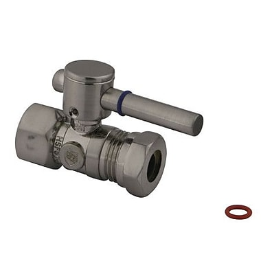 Elements of Design South Beach Straight Stop Valve; Satin Nickel