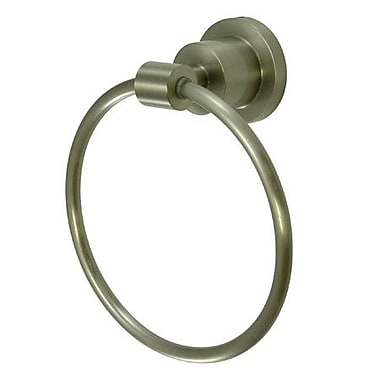 Elements of Design South Beach Wall Mounted Towel Ring; Satin Nickel