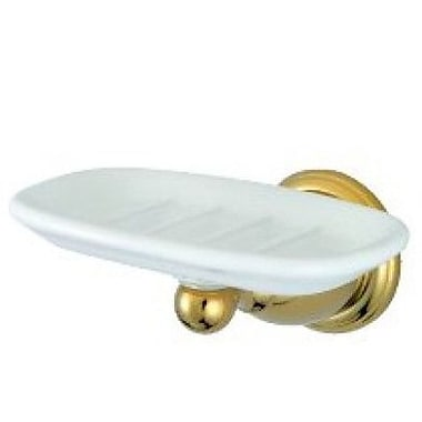 Elements of Design Heritage New Orleans Soap Dish; Polished Brass
