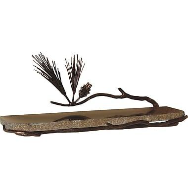 Quiescence Pine 20'' W Bathroom Shelf; Silver Shimmer
