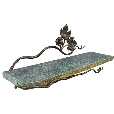 Quiescence Vineyard 20'' W Wall Shelf; Silver Shimmer