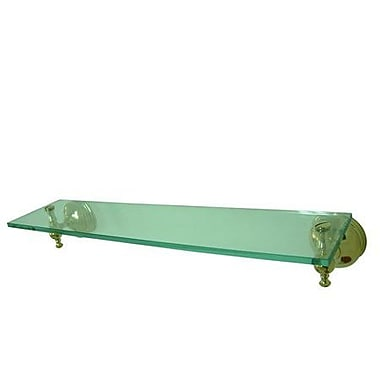 Elements of Design Naples 20.5'' W Bathroom Shelf; Polished Brass