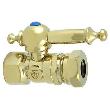 Elements of Design Quarter Turn Valves; Polished Brass