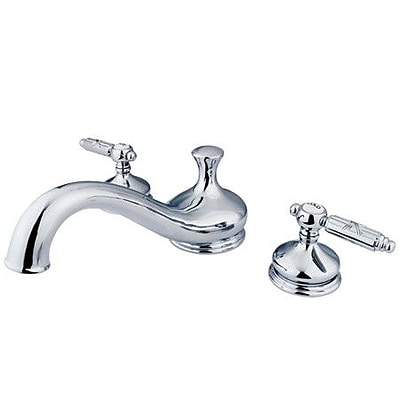 Elements of Design Hot Springs Double Handle Deck Mount Roman Tub Faucet; Chrome