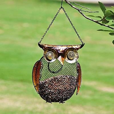 Evergreen Flag & Garden Owl Decorative Bird Feeder (WYF078277173661) photo