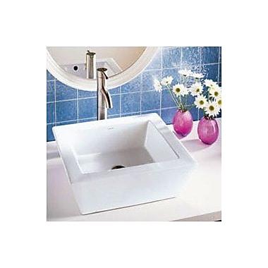 DecoLav Classically Redefined Ceramic Rectangular Vessel Bathroom Sink w/ Overflow; White