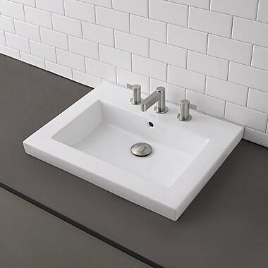 DecoLav Classically Redefined Rectangular Semi-Recessed Bathroom Sink