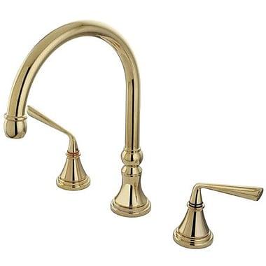 Kingston Brass Silver Sage Double Handle Roman Tub Faucet; Polished Brass