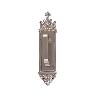 BRASS Accents Gothic Pull Handle/Plate; Highlighted Brass