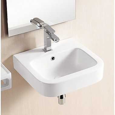 Caracalla Ceramica II 18'' Wall Mounted Bathroom Sink w/ Overflow