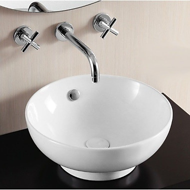 Caracalla Ceramica II Circular Vessel Bathroom Sink