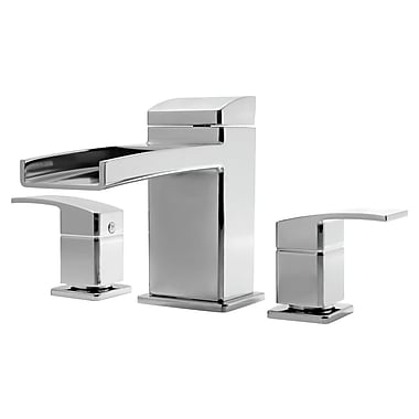 Pfister Kenzo Two Handle Deck Mount Roman Tub Faucet Trim; Polished Chrome