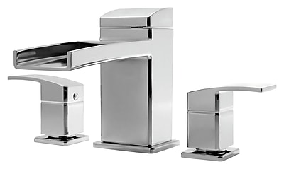 Pfister Kenzo Two Handle Deck Mount Roman Tub Faucet Trim; Brushed Nickel