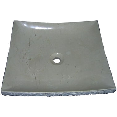 Quiescence Stone Serene Specialty Vessel Bathroom Sink; Crema Marfil