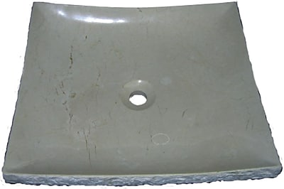 Quiescence Stone Sink Stone Specialty Vessel Bathroom Sink; Crema Marfil