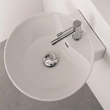 Scarabeo by Nameeks Sfera Ceramic 16'' Wall Mount Bathroom Sink w/ Overflow