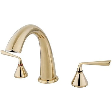 Kingston Brass Roman Double Handle Roman Tub Faucet; Polished Brass