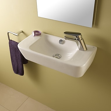 Bissonnet Emma Ceramic 20'' Wall Mounted Bathroom Sink w/ Overflow