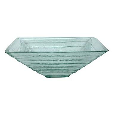 Kingston Brass Fauceture Glass Square Vessel Bathroom Sink