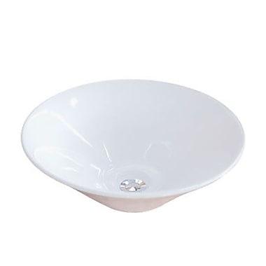 Kingston Brass Soho Ceramic Circular Vessel Bathroom Sink