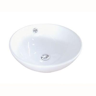 Kingston Brass Perfection Ceramic Circular Vessel Bathroom Sink w/ Overflow