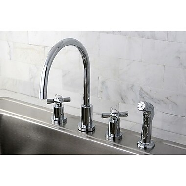 Kingston Brass Millennium Widespread Kitchen Faucet; Polished Chrome