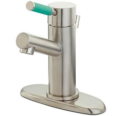 Kingston Brass Green Eden Bathroom Faucet w/ Cover Plate; Satin Nickel