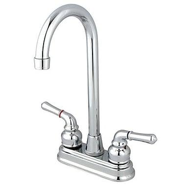 Kingston Brass Magellan Double Handle Bar Faucet; Polished Chrome