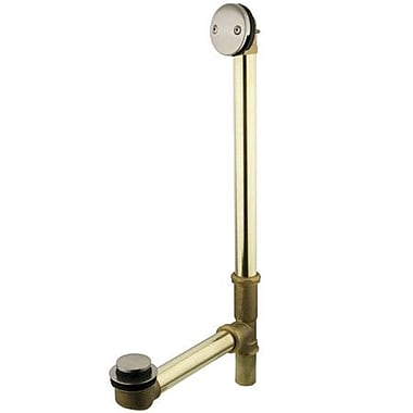 Kingston Brass Made to Match Waste 3.19'' Leg Tub Bathroom Sink Drain; Satin Nickel