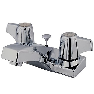 Kingston Brass Columbia Double Handle Centerset Bathroom Faucet w/ Brass Pop-Up Drain
