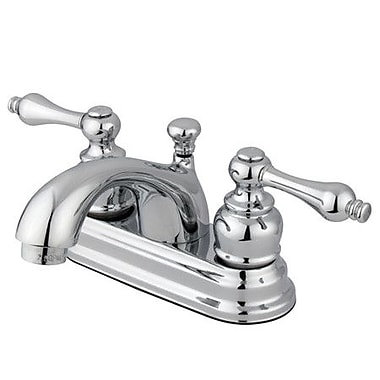 Kingston Brass Vintage Double Handle Centerset Bathroom Faucet w/ ABS Pop-Up Drain; Polished Chrome