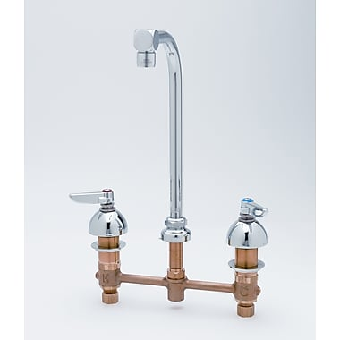T&S Brass Centerset Medical Bathroom Faucet w/ Cold and Hot Handles