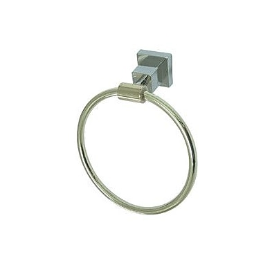 Kingston Brass Claremont Wall Mounted Towel Ring; Polished Chrome/Polished Brass