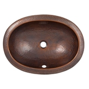 The Copper Factory Oval Undermount Bathroom Sink w/ Overflow; Antique Copper