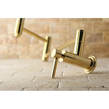 Kingston Brass Concord Wall Mount Pot Filler; Polished Brass