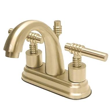 Kingston Brass Milano Double Handle Centerset Bathroom Sink Faucet w/ Brass Pop-up; Polished Brass