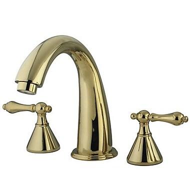 Kingston Brass Naples Double Handle Roman Tub Faucet; Polished Brass