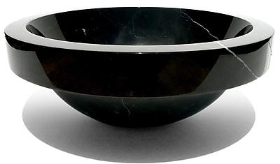 D'Vontz Natural Stone Sinks Stone Circular Vessel Bathroom Sink; Beige Travertine