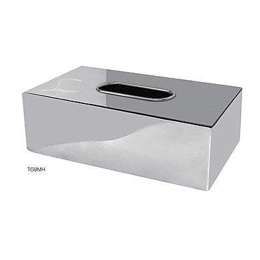 NU Steel Gloss Flat Tissue Box Cover