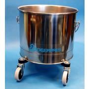 Geerpres Stainless Steel 5 Gallon Round Mop Bucket w/ 2'' Casters
