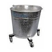 Geerpres Seaway Galvanized 35 Quart Oval Mop Bucket w/ 2'' Casters