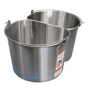 Geerpres Stainless Steel 2 - 5 Gallon Half Round Buckets