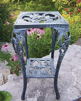 Oakland Living Hummingbird Novelty Plant Stand; Verdi Grey