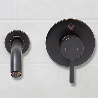 Vigo Olus Wall Mount Bathroom Faucet; Antique Rubbed Bronze